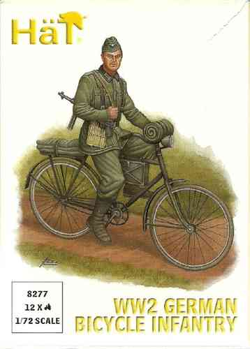 Hat WWII German Bicycle Infantry 1/72 Scale