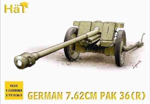 Hat German 7.62cm Pak 36(R) Anti-tank Guns 1/72 Scale