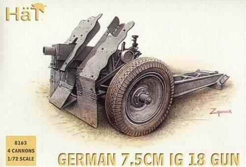 Hat German 7.5cm IG 18 Infantry Guns 1/72 Scale