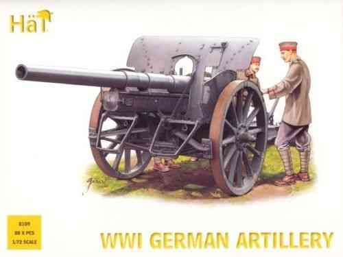 Hat WWI German Artillery. 1/72 Scale
