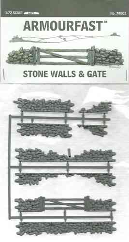 Armourfast Stone Wall & Gate 1/72 Scale
