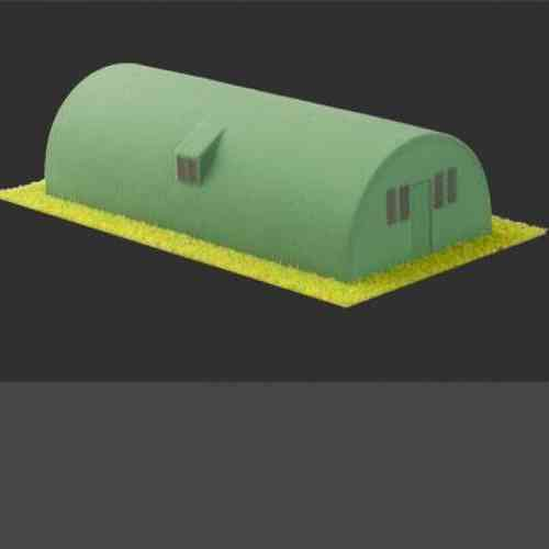 Amera Plastics Nissen Hut Moulded Plastic Kit. 1/72,1/76 20mm Scale. S212