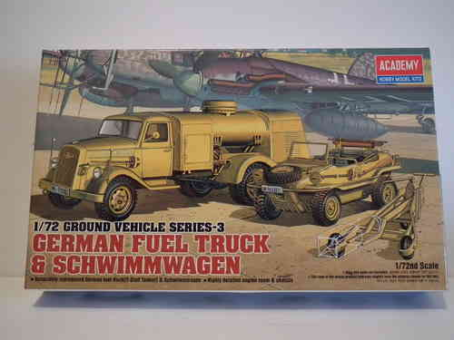 Academy German fuel Truck & Scwimwagen Set