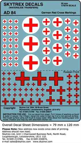 SKYTREX DECALS German Red Cross Markings