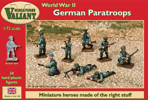 Valiant Miniatures-WWII German Paratroopers Kit/War gaming