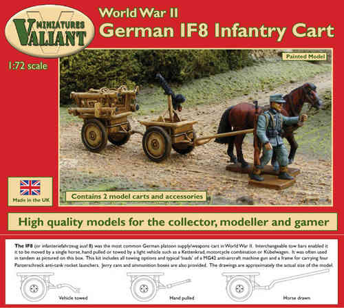 Valiant Miniatures-WWII German IF8 Infantry Cart Kit/War gamin