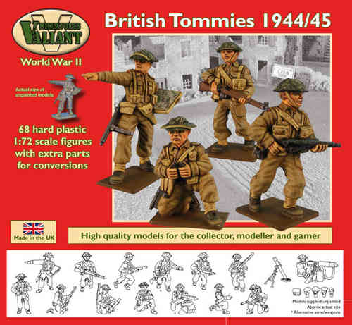 Valiant Miniatures-WWII British Tommies 1943/45 Figures Kit/War gaming.