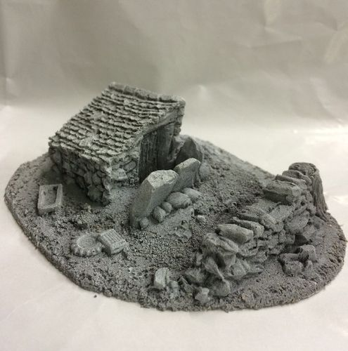 Battle Zone Derelict Building Type 10 1/72 Scale