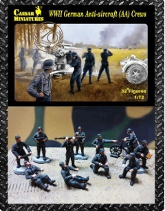 WWII German Anti-aircraft Crews - 32 Figures