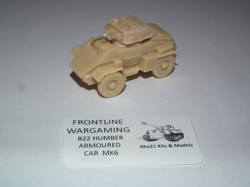 WWII BRITISH HUMBER ARMORED CAR MK IV RESIN MODEL KIT - B22