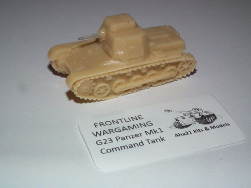 WWII GERMAN PANZER MKI COMMAND TANK RESIN MODEL KIT - G23