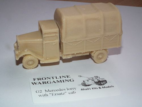 WWII GERMAN MERCEDES LORRY WITH ERSATZ CAB RESIN MODEL KIT - G2